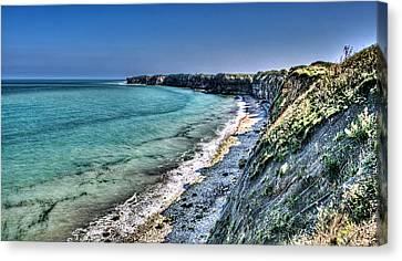 The Cliffs Of Pointe Du Hoc Canvas Print