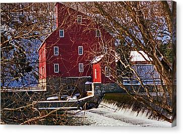 The Clinton Nj Mill Canvas Print by Skip Willits