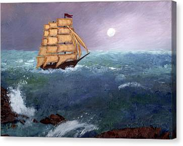 Canvas Print featuring the painting The Clipper by J Cheyenne Howell