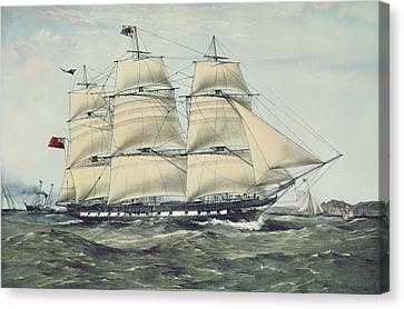 Water Vessels Canvas Print - The Clipper Ship Anglesey by Anonymous