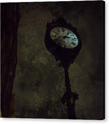 The Clock Of Greenpoint Canvas Print by Natasha Marco