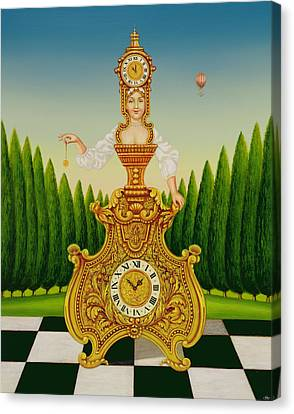The Clockmakers Wife Canvas Print by Frances Broomfield