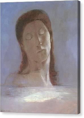 The Closed Eyes, 1890 Canvas Print by Odilon Redon