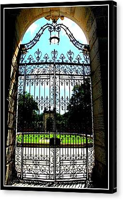 Antique Ironwork Canvas Print - The Gate At Vizcaya by Dora Sofia Caputo Photographic Design and Fine Art