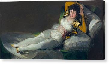 Clothed Canvas Print - The Clothed Maja by Francisco Goya