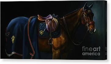 Bay Horse Canvas Print - The Clothes Horse by Janet  Crawford