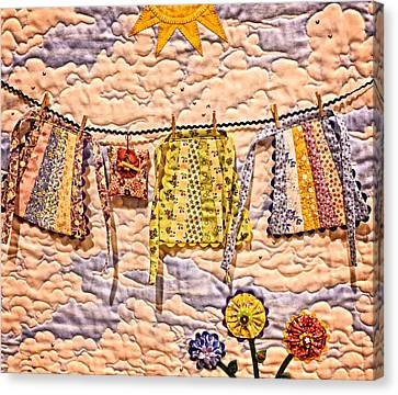 The Clothes Line Canvas Print by Image Takers Photography LLC - Carol Haddon