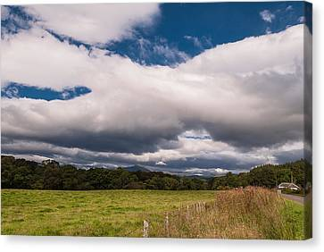 Canvas Print featuring the photograph The Clouds by Sergey Simanovsky