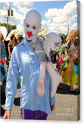 Canvas Print featuring the photograph The Clown by Ed Weidman
