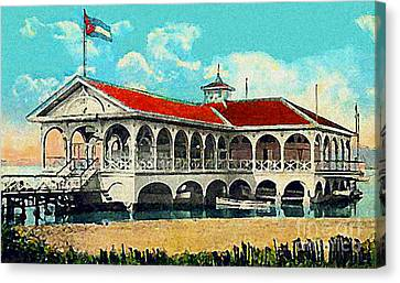 The Club Nautico In Santiago Cuba In 1910 Canvas Print