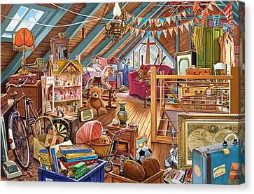 The Cluttered Attic  Canvas Print