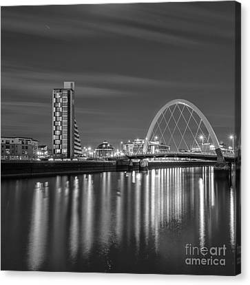 The Clyde Arc Mono Canvas Print by John Farnan