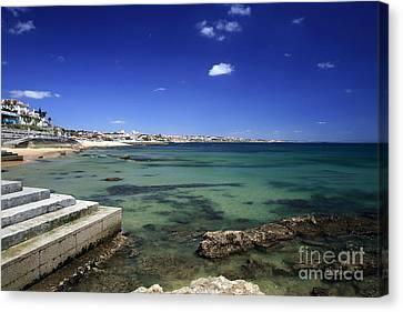 The Coast Of Estoril Canvas Print by John Rizzuto