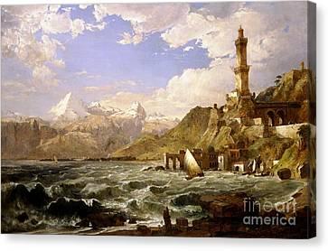 The Coast Of Genoa Canvas Print
