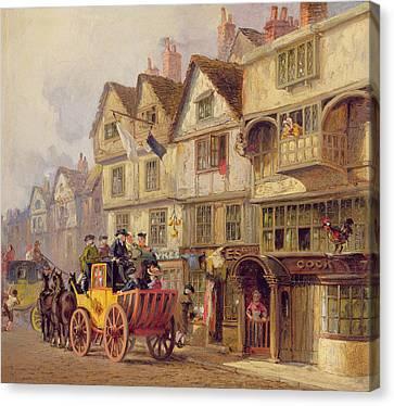 The Cock Tavern Canvas Print by Albert Joseph Moore