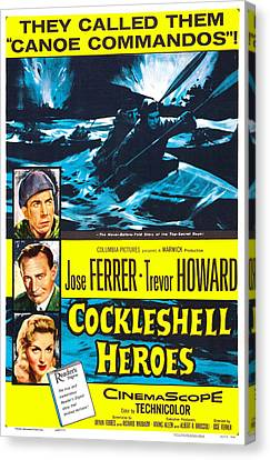 The Cockleshell Heroes, Us Poster, Left Canvas Print by Everett