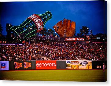The Coke And Glove Canvas Print by Eric Tressler