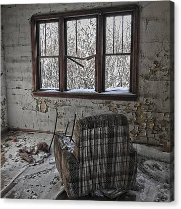 Abandoned House Canvas Print - The Cold Remains  by The Artist Project