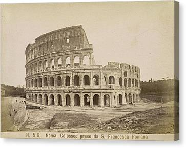 The Coliseum Canvas Print by British Library
