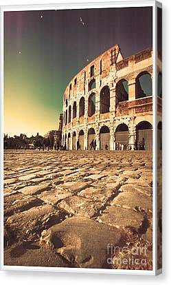 The Coliseum In Rome Canvas Print by Stefano Senise