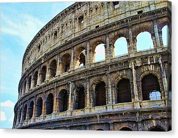 The Coliseum Canvas Print by Oscar Alvarez Jr
