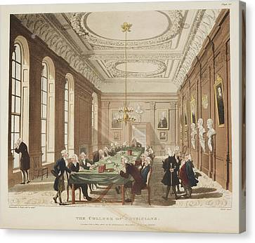 The College Of Physicians Canvas Print by British Library