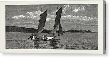 The College Yacht, British Naval Defences Canvas Print by Litz Collection