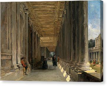 The Colonnade Of Queen Marys House, Greenwich Canvas Print by Litz Collection