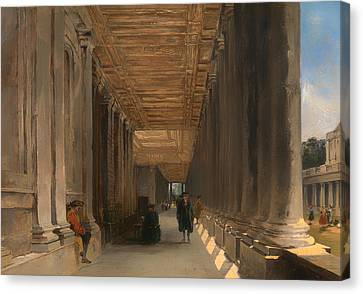 The Colonnade Of Queen Mary's House In Greenwich Canvas Print by Mountain Dreams