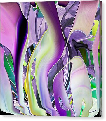 The Color Of Iris - Digital Abstract Art Canvas Print by rd Erickson
