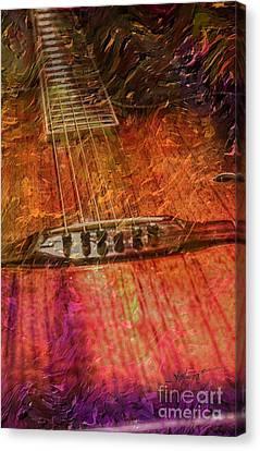 The Color Of Music Digital Guitar Art By Steven Langston Canvas Print by Steven Lebron Langston
