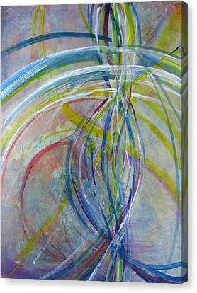 Canvas Print featuring the painting The Color Of Sound by John Fish