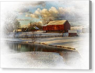 The Color Of Winter Canvas Print by Kathy Jennings