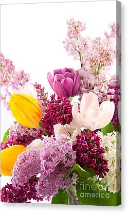 The Colorful Flower Canvas Print by Boon Mee