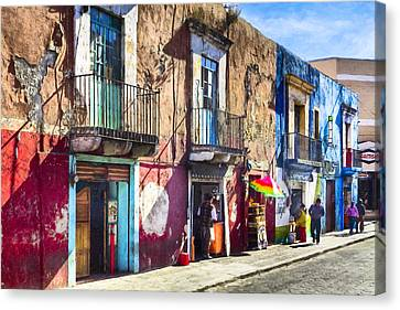 The Colorful Streets Of Puebla Mexico Canvas Print