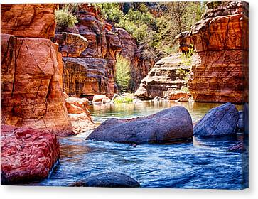 The Colors Of Oak Creek Canvas Print by Fred Larson