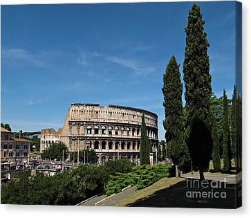 The Colosseum In Rome Canvas Print by Kiril Stanchev