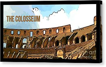 The Colosseum Poster Canvas Print