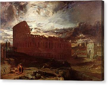 The Colosseum, Rome, 1860 Canvas Print by Frederick Lee Bridell
