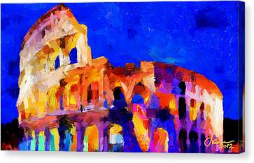 The Colosseum Tnm Canvas Print by Vincent DiNovici