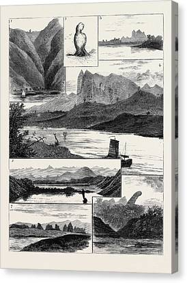 White River Scene Canvas Print - The Colquhoun-wahab Expedition Through China by Chinese School
