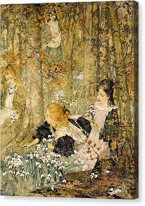 Picking Canvas Print - The Coming Of Spring, 1899 by Edward Atkinson Hornel