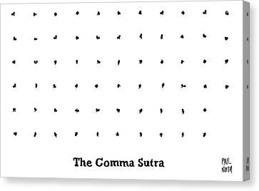 The Comma Sutra. Images Of Commas In Different Canvas Print