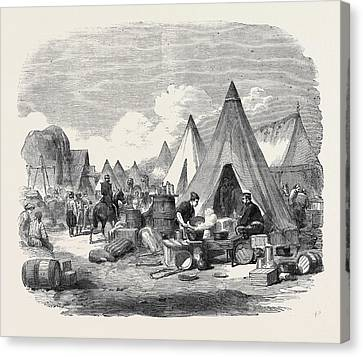 The Commissariat Camp In The Crimea Canvas Print