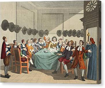 The Committee, From Hudibras By Samuel Canvas Print by William Hogarth