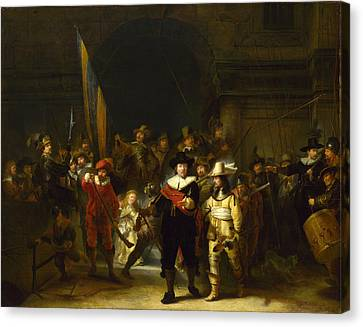 The Company Of Captain Banning Cocq. The Nightwatch  Canvas Print