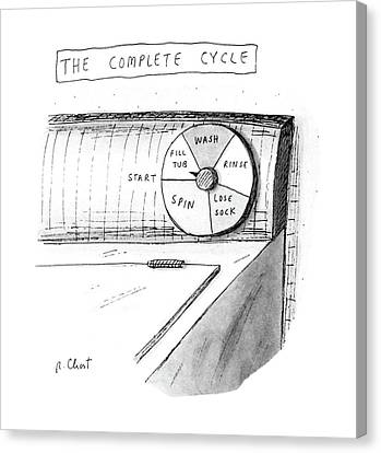 Washing Machine Canvas Print - The Complete Cycle by Roz Chast
