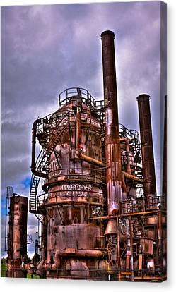 The Compressor Building At Gasworks Park - Seattle Washington Canvas Print by David Patterson