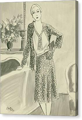 The Comtesse De Vogue Canvas Print