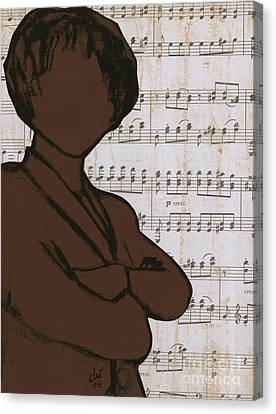 The Concert Critic Canvas Print by Angela L Walker